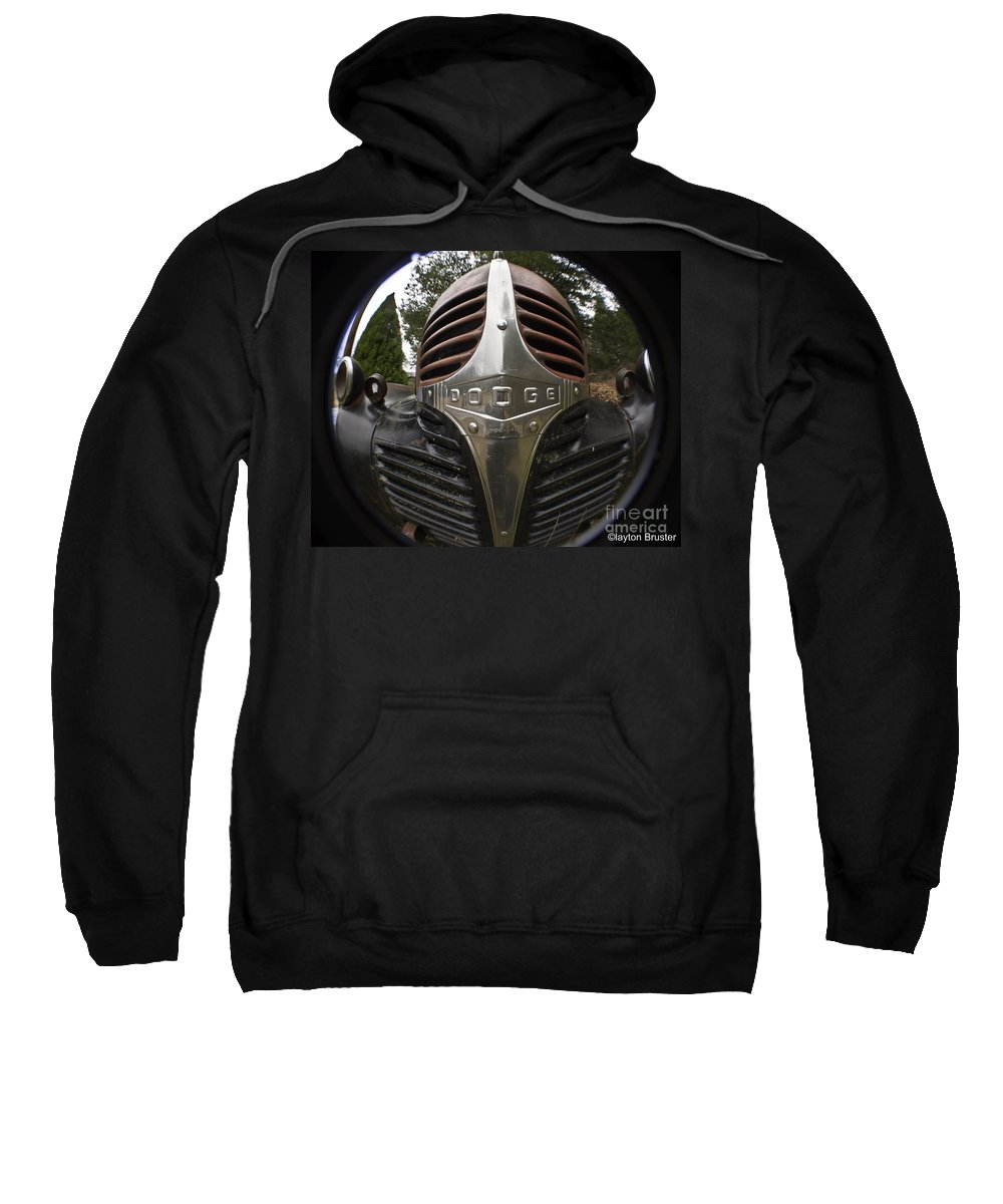 Art Sweatshirt featuring the photograph Dodge Truck Nose by Clayton Bruster