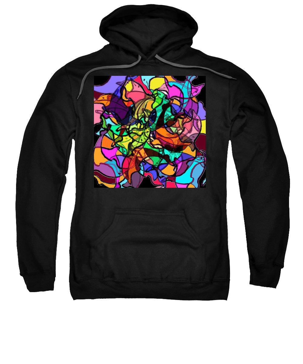 Abstract Sweatshirt featuring the digital art Dolphin Kaleidoscope by Rachel Christine Nowicki