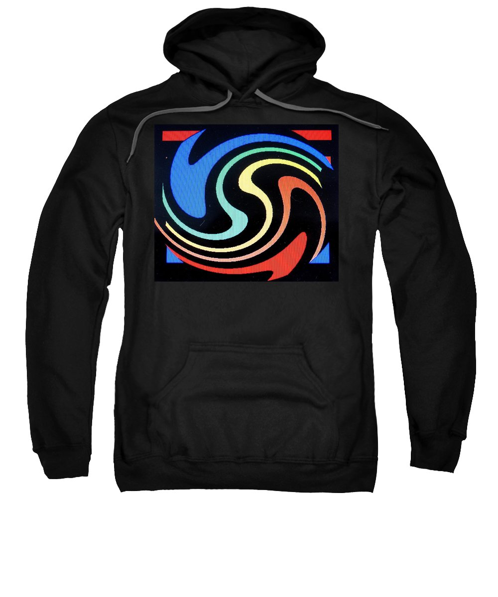 Dolphins Sweatshirt featuring the digital art Dolphins by Ian MacDonald