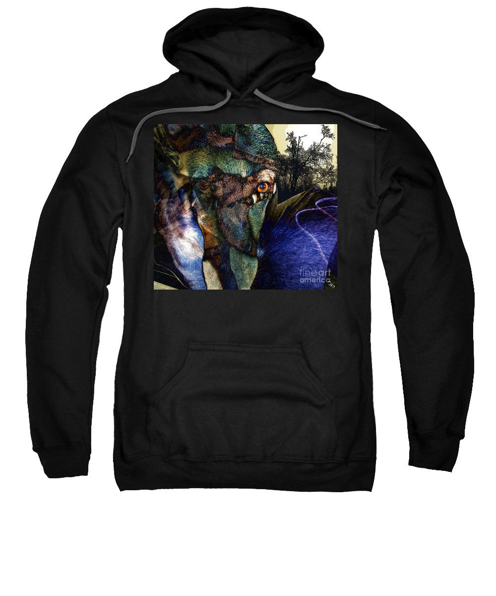 Dog Sweatshirt featuring the photograph Domesticated by Ron Bissett