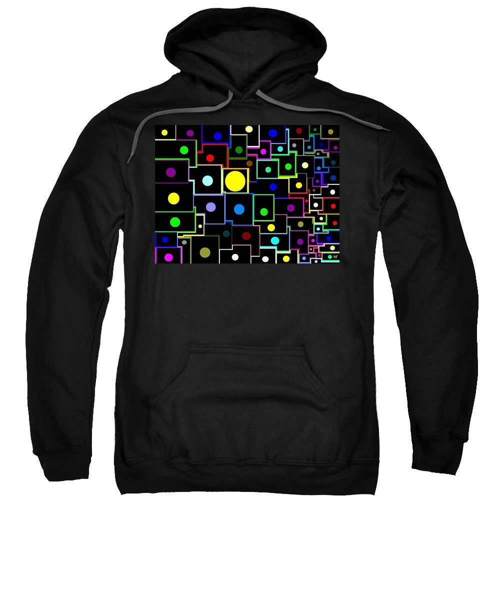 Abstract Sweatshirt featuring the digital art Domino Effect by Will Borden
