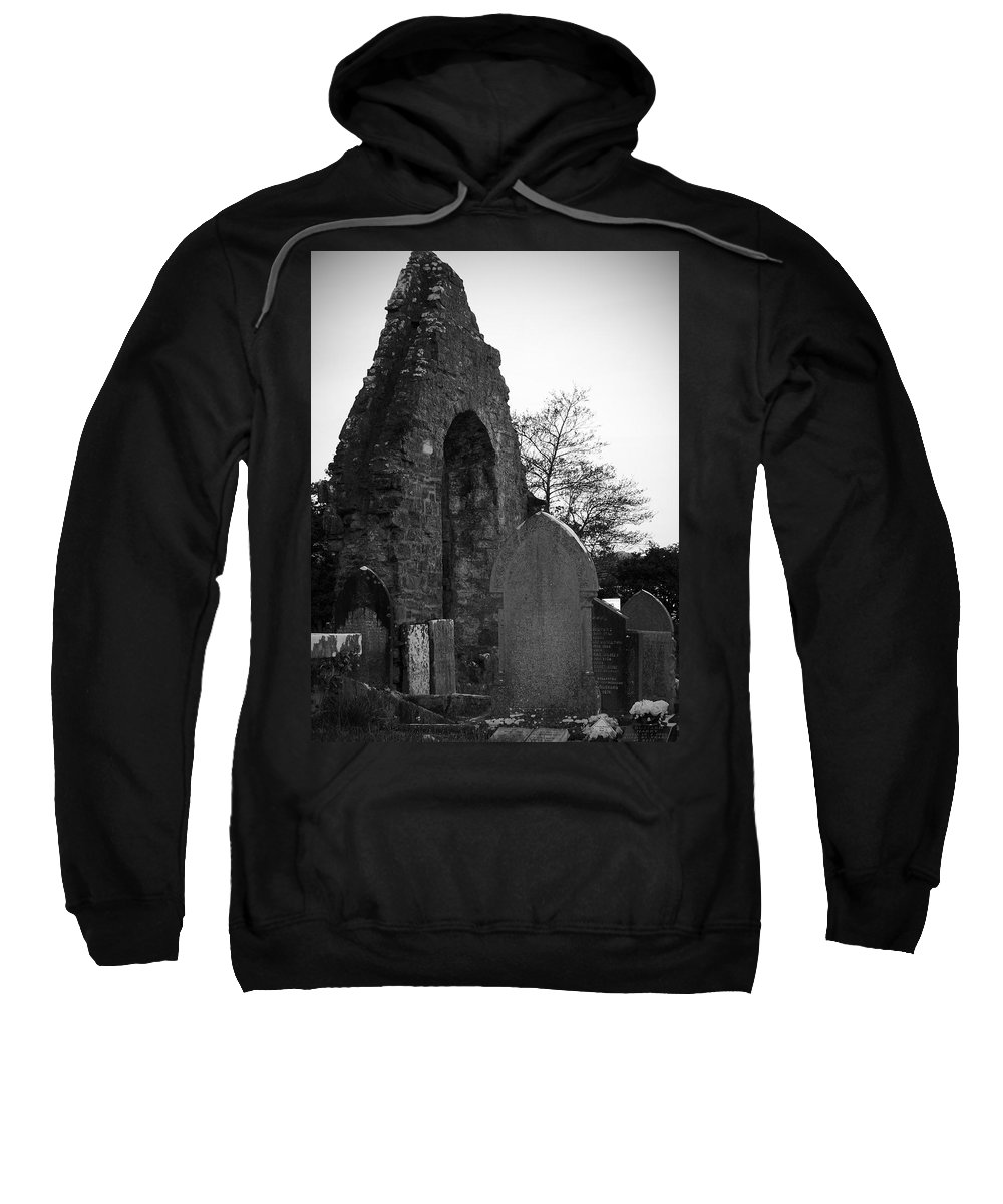 Irish Sweatshirt featuring the photograph Donegal Abbey Ruins Donegal Ireland by Teresa Mucha