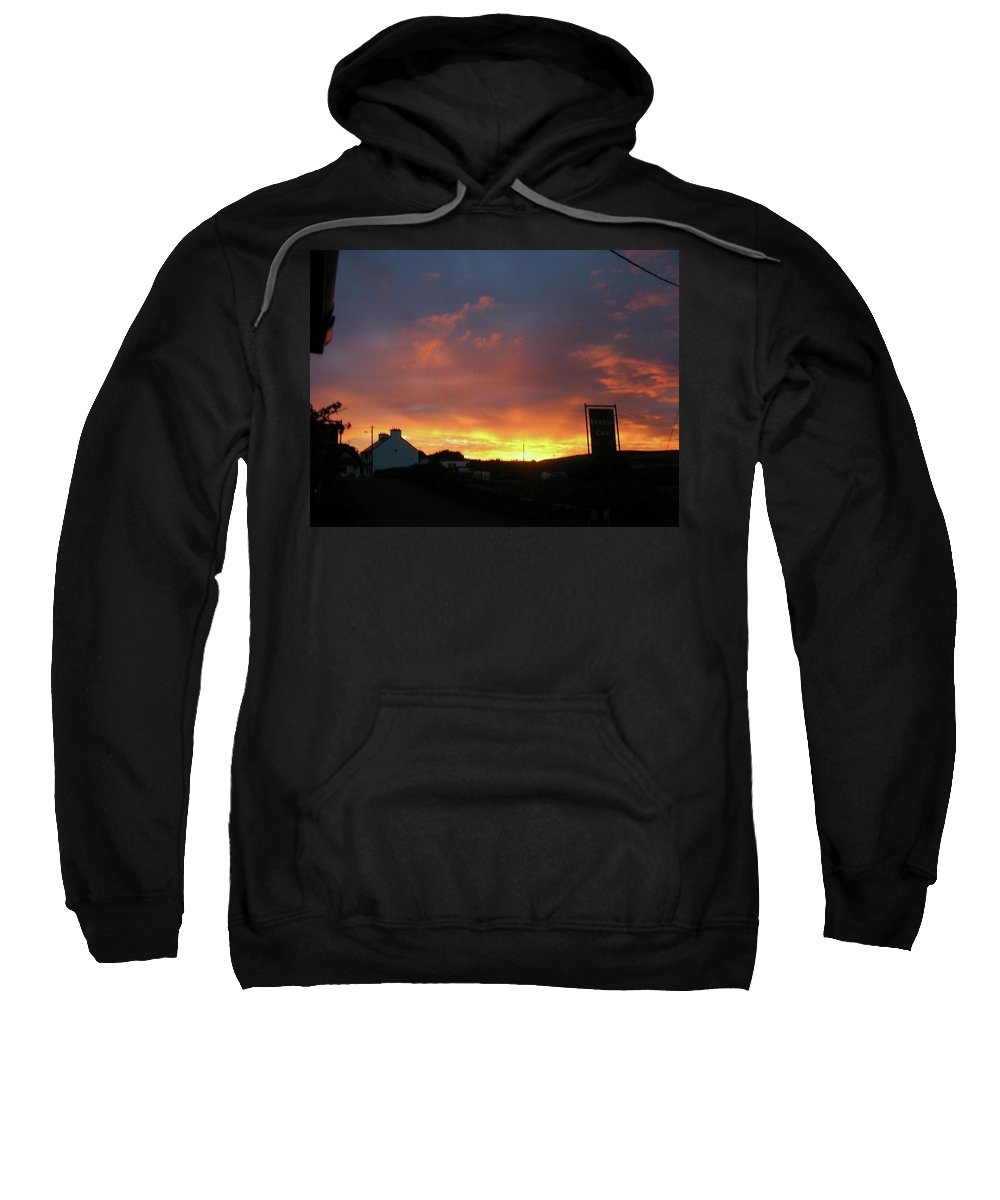 Landscape Sweatshirt featuring the photograph Doolin Co Clare Ireland by Louise Macarthur Art and Photography