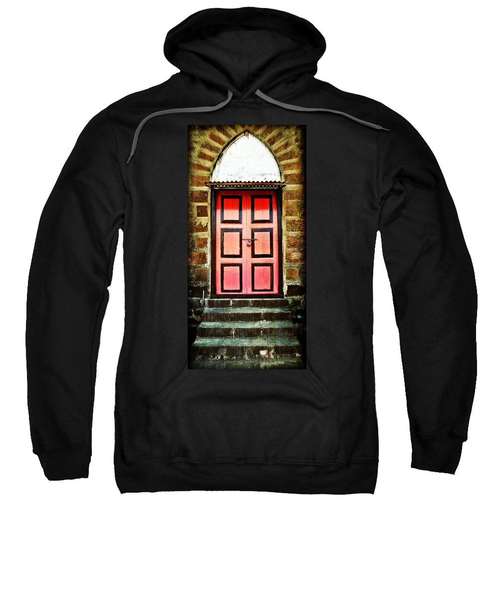 Sweatshirt featuring the photograph Door by Charuhas Images