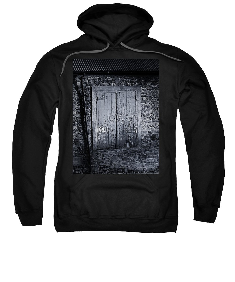 Irish Sweatshirt featuring the photograph Door To Nowhere Blarney Ireland by Teresa Mucha