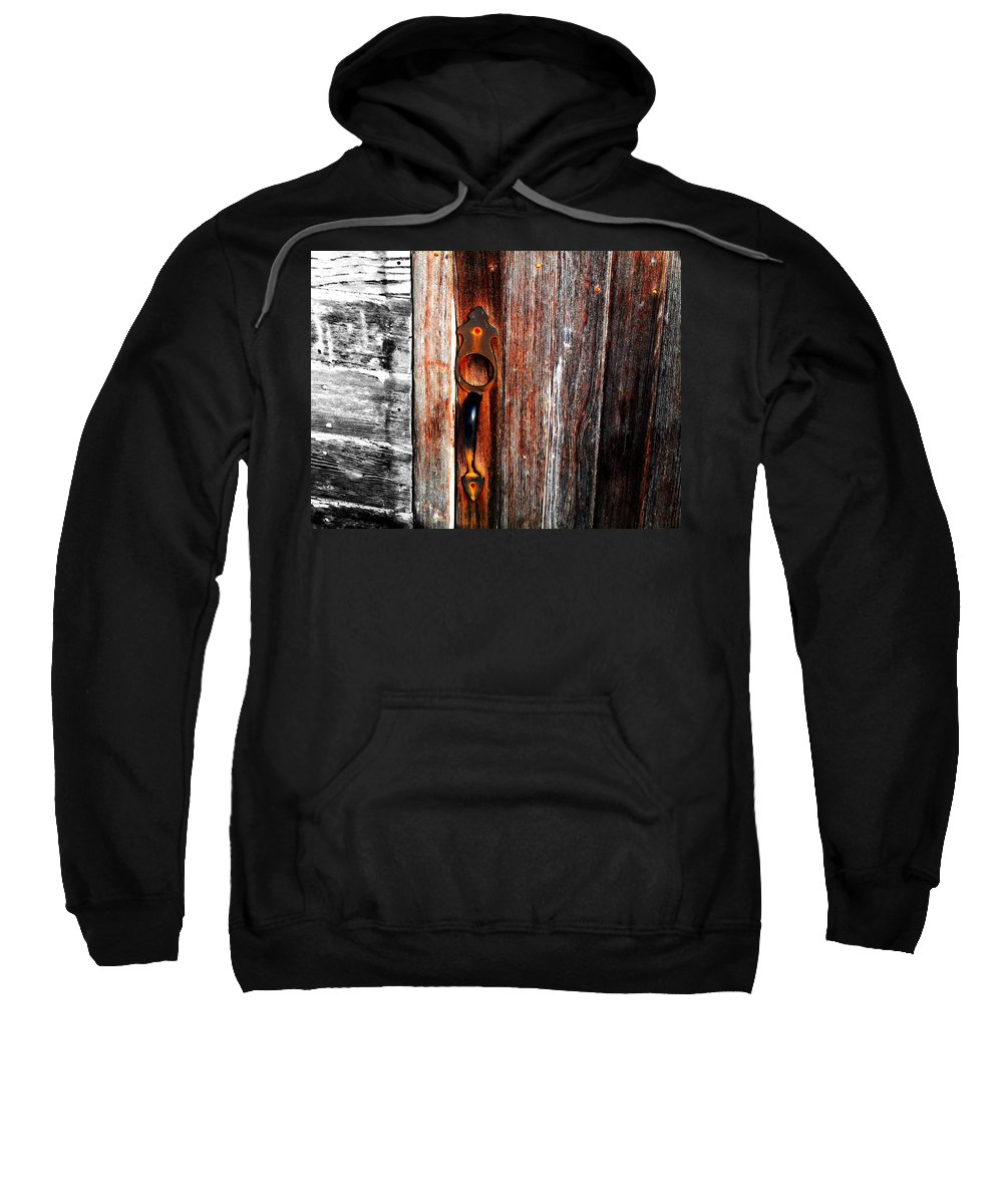 Wood Sweatshirt featuring the photograph Door To The Past by Julie Hamilton