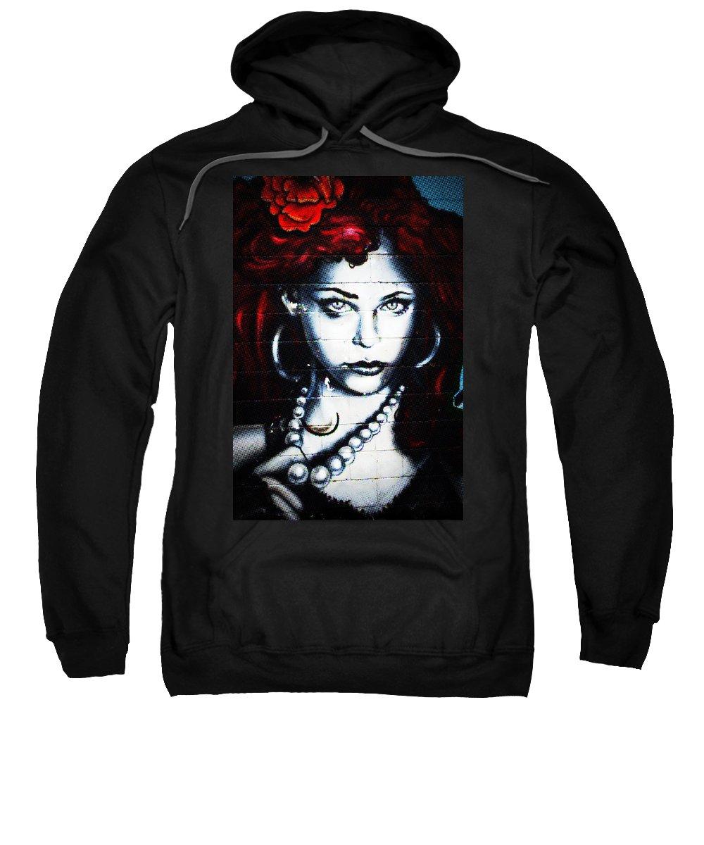 Graffiti Sweatshirt featuring the photograph Dotty Diva by Lisa Knechtel