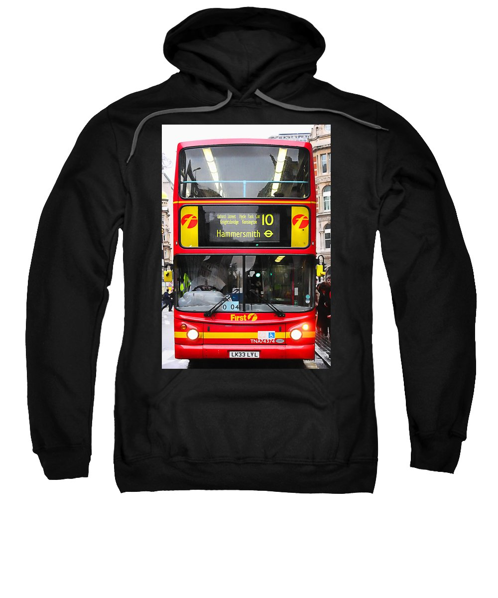 London Sweatshirt featuring the photograph Double Decker by Osvaldo Hamer