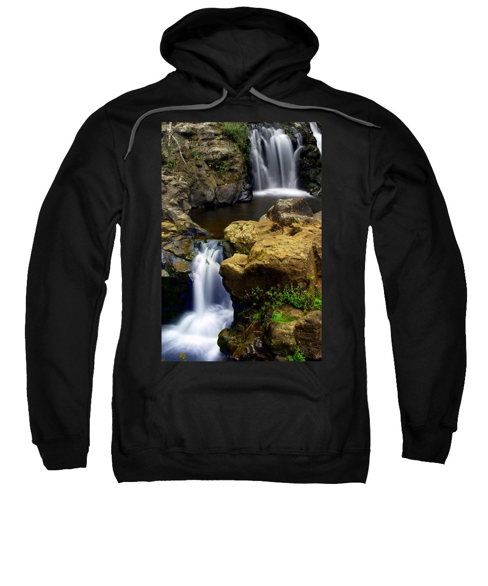 Waterfall Sweatshirt featuring the photograph Double Drop by Marty Koch