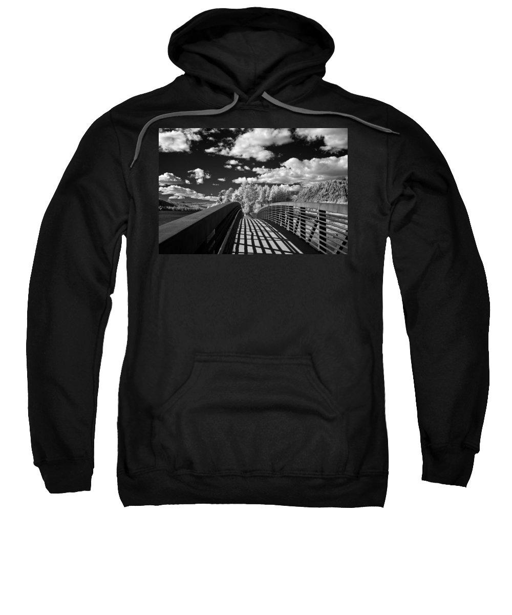 B&w Sweatshirt featuring the photograph Dover Slough Bridge 1 by Lee Santa