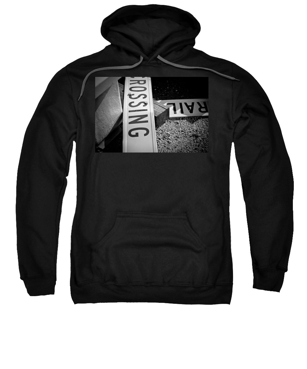 Black And White Photograph Sweatshirt featuring the photograph Down And Out by Mike Oistad