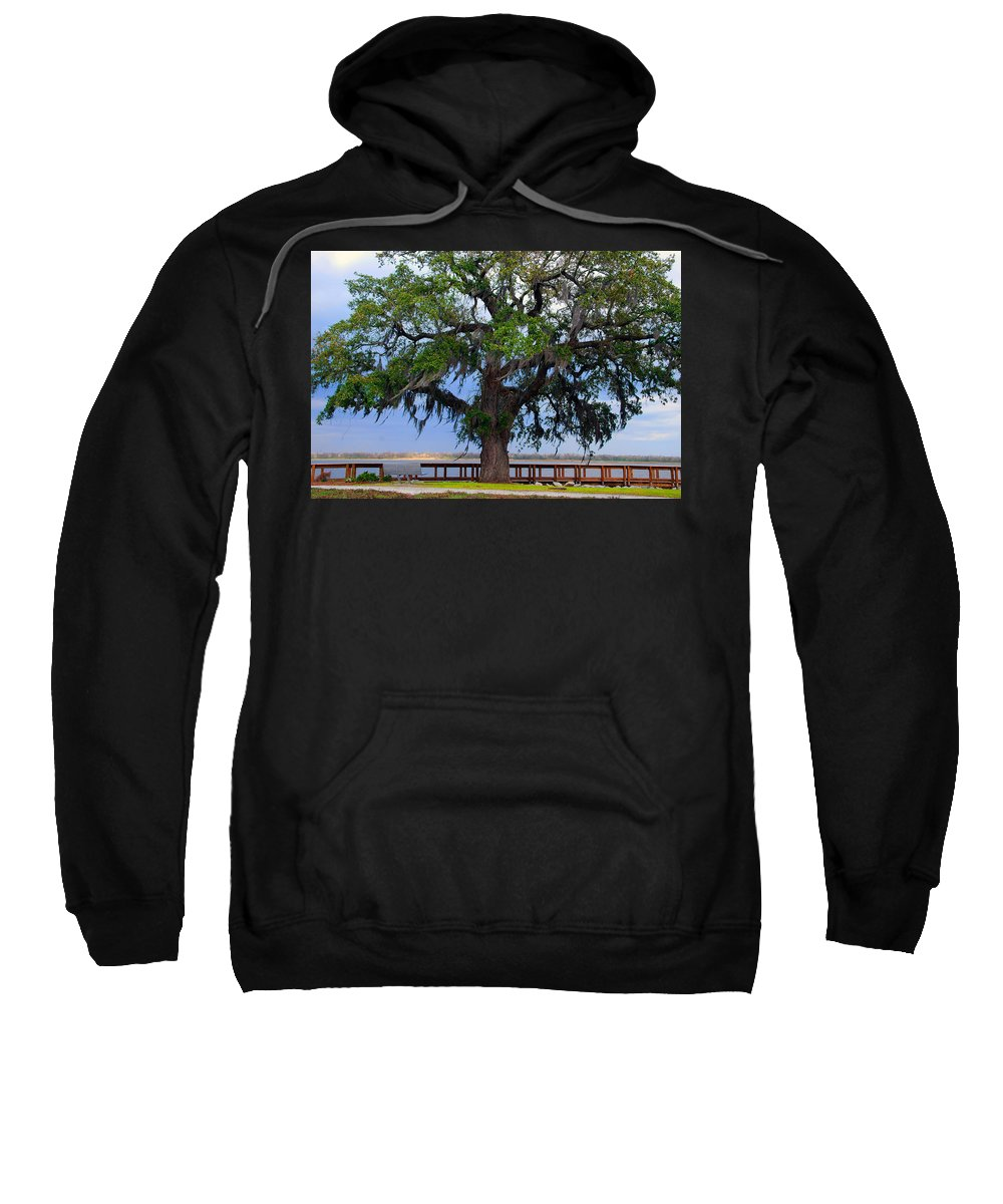 Photography Sweatshirt featuring the photograph Down By The River Side by Susanne Van Hulst
