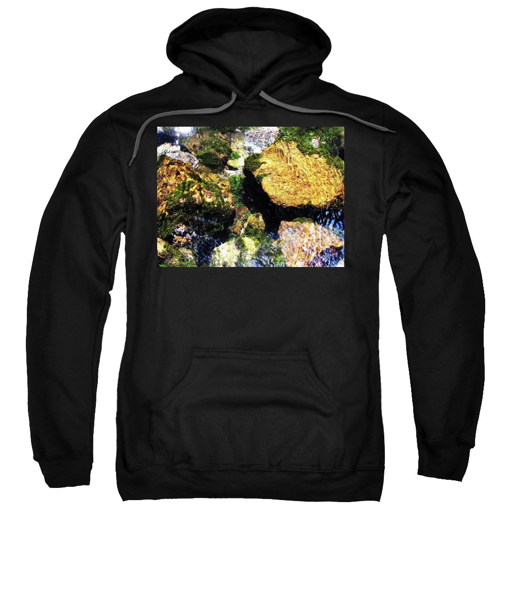 Water Sweatshirt featuring the photograph Down Stream Of Clearwater Falls by Teri Schuster