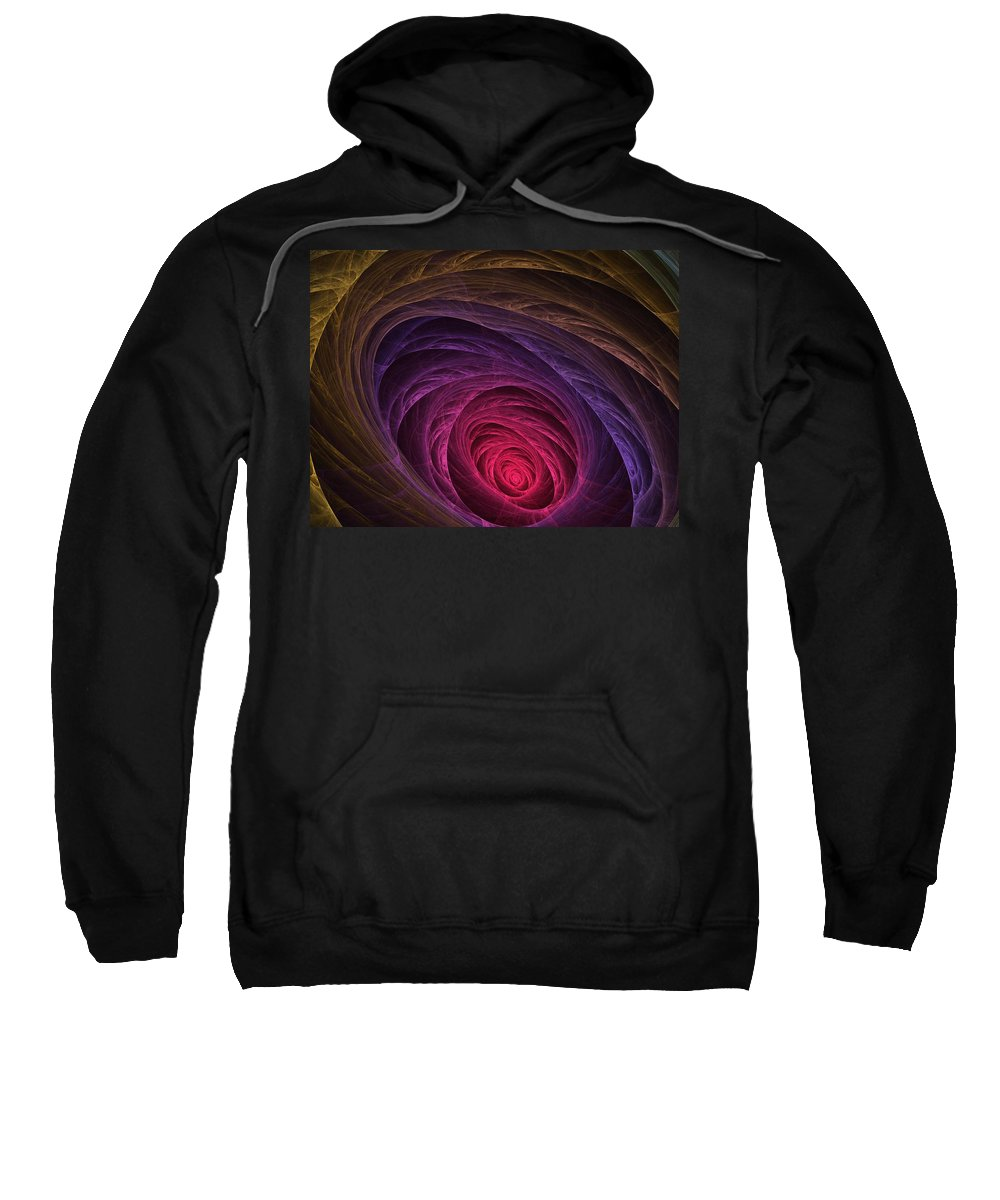Apophysis Sweatshirt featuring the digital art Down The Rabbit Hole by Lyle Hatch