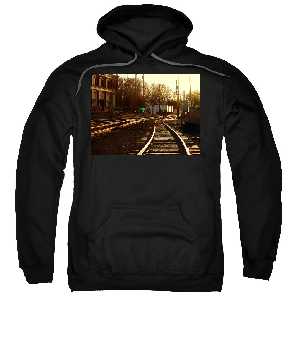 Landscape Sweatshirt featuring the photograph Down The Right Track 2 by Steve Karol