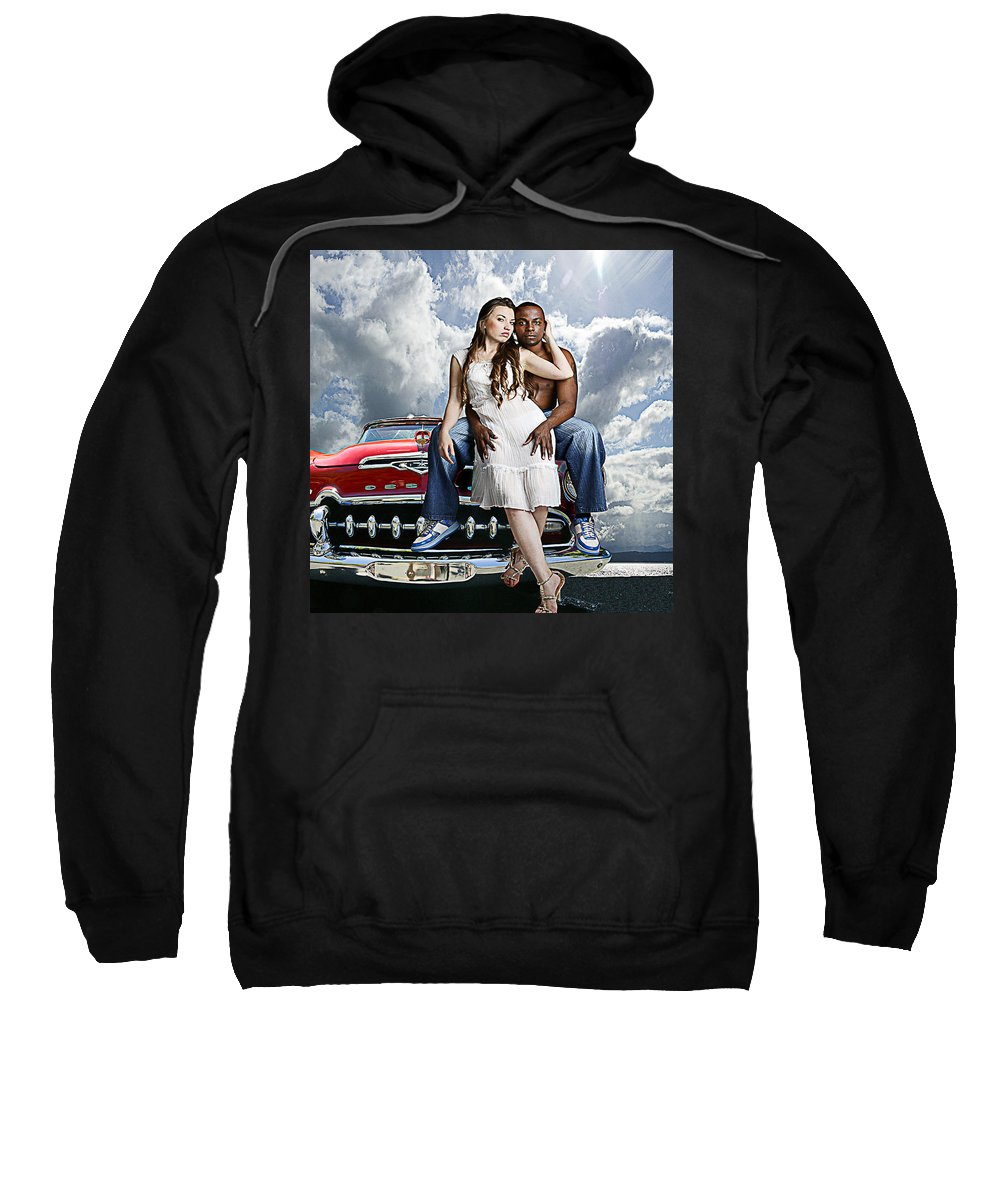 Auto Sweatshirt featuring the photograph Downtown by Jeff Burgess