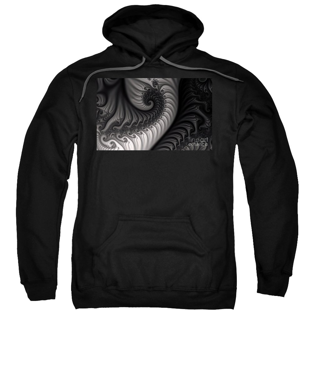 Clay Sweatshirt featuring the digital art Dragon Belly by Clayton Bruster