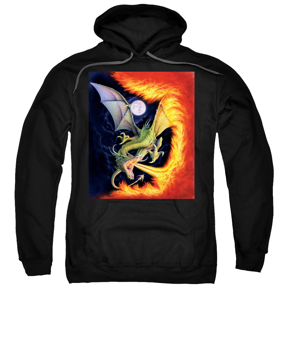 Dragon Sweatshirt featuring the photograph Dragon Fire by The Dragon Chronicles