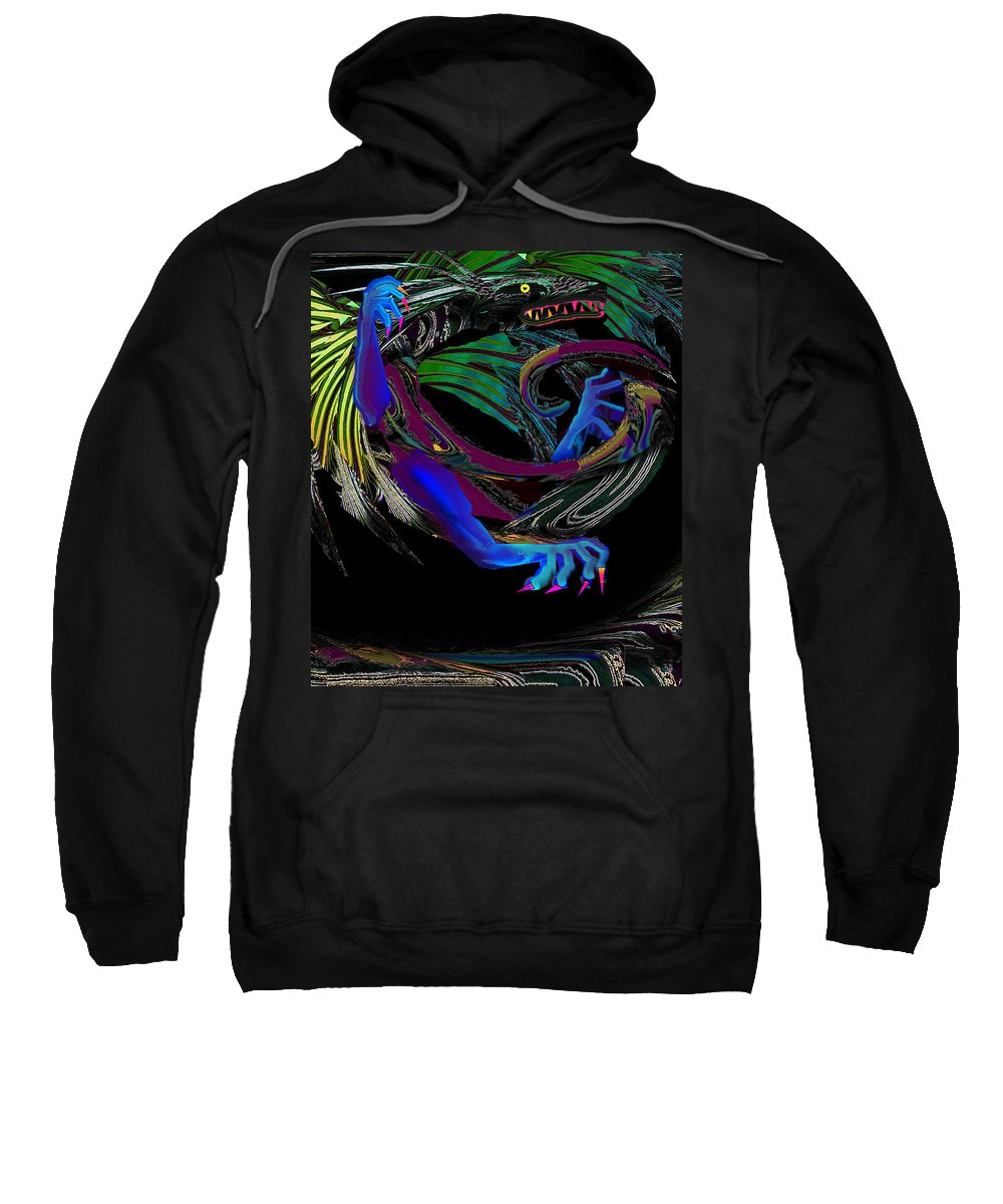 Dragon Sweatshirt featuring the digital art Dragon Flying by XERXEESE Color Schemes