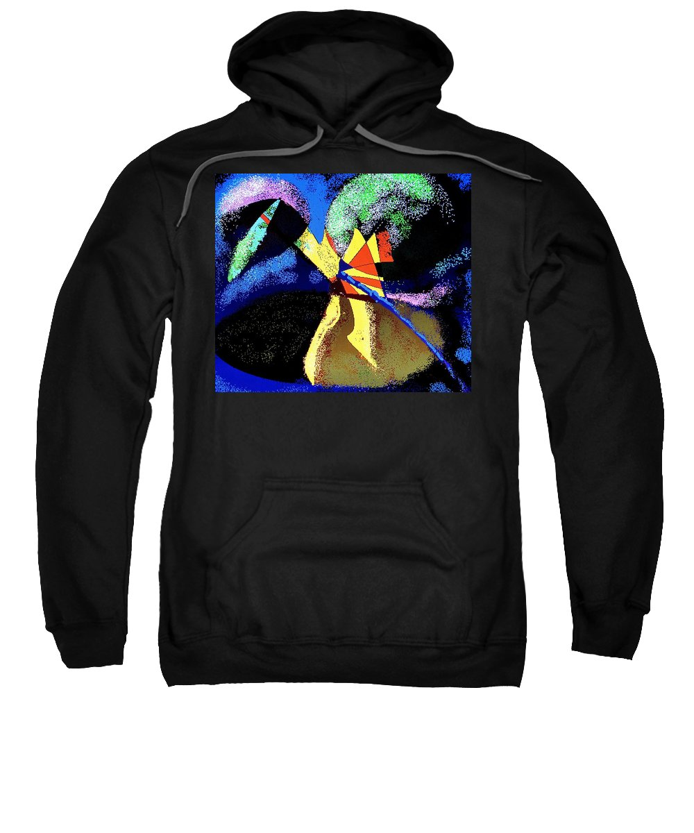 Digital Drawing Sweatshirt featuring the digital art Dragon Killer by Ian MacDonald