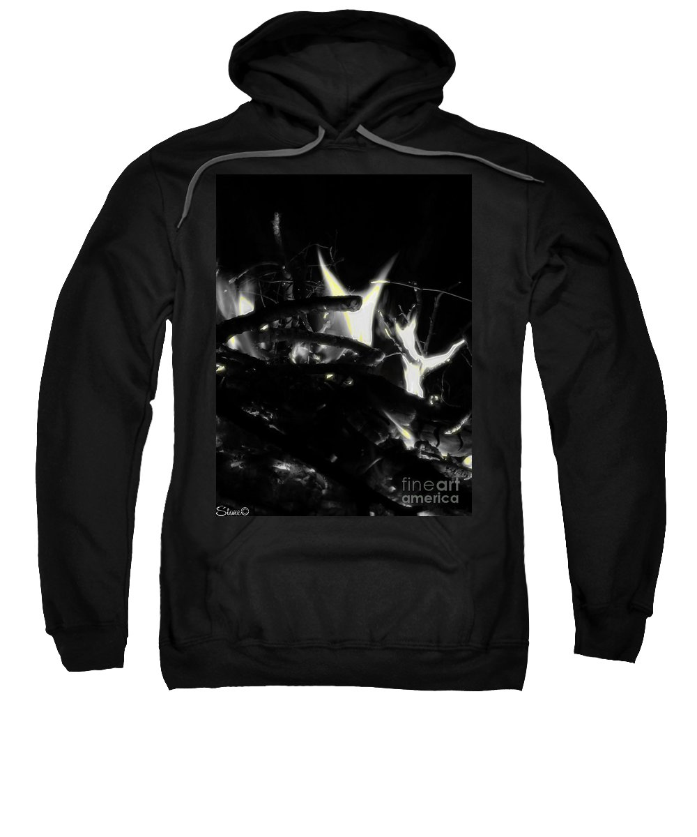 Black Sweatshirt featuring the photograph Drained by September Stone
