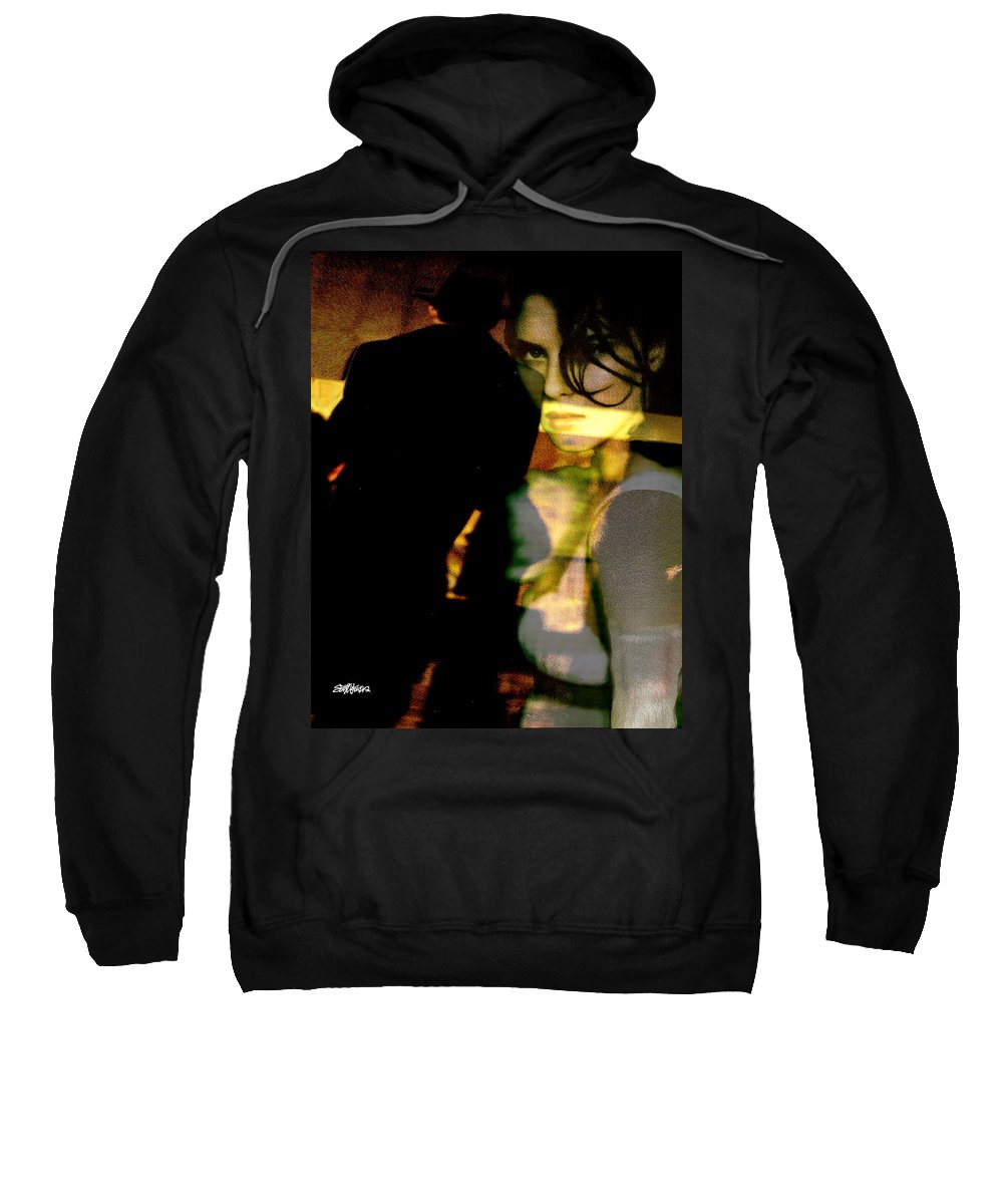 Mystery Sweatshirt featuring the digital art Drama After Dark by Seth Weaver