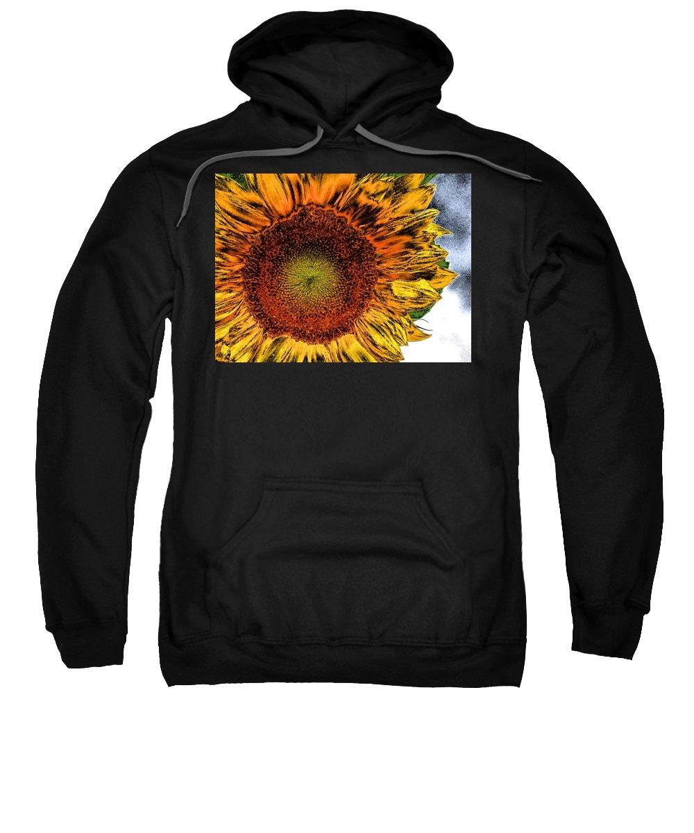 Sunflower Sweatshirt featuring the photograph Dramatic Sunflower by Kristin Elmquist