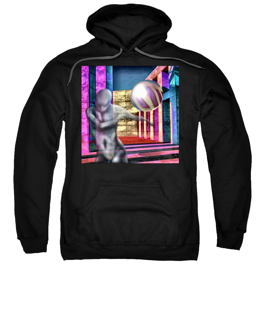 Playground Game Ball Colors Sweatshirt featuring the digital art Dream Play by Veronica Jackson