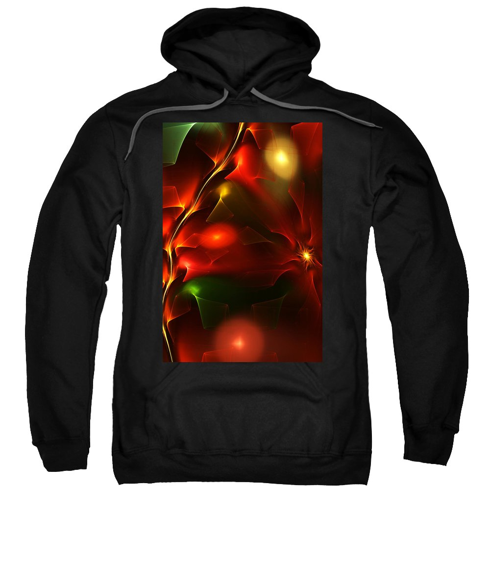 Digital Painting Sweatshirt featuring the digital art Dreams Of Christmas Past by David Lane