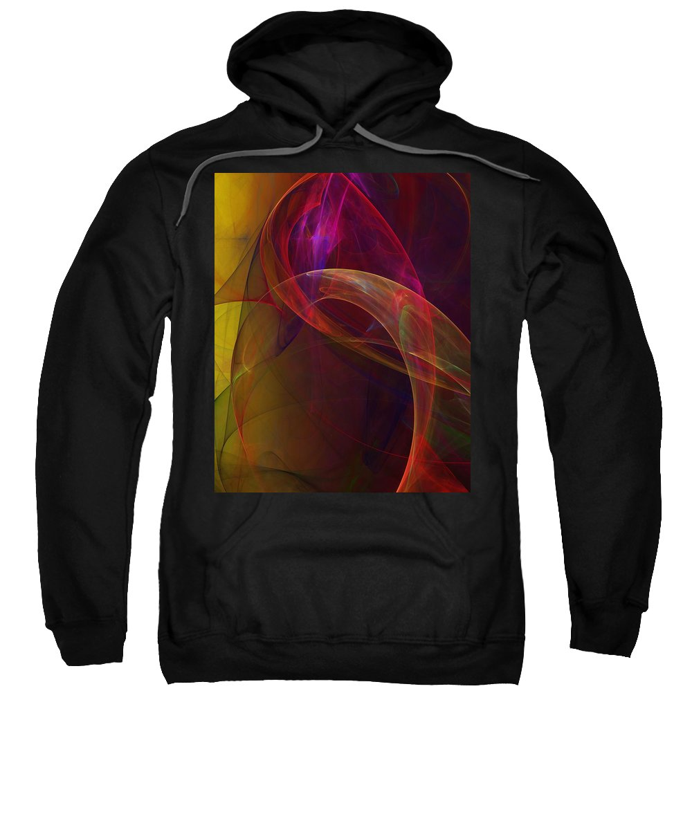 Fine Art Sweatshirt featuring the digital art Dreams Of Fish And Other Things by David Lane