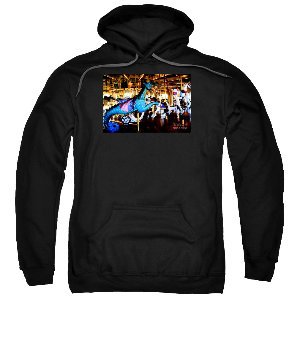 Carousel Sweatshirt featuring the photograph Dreams Take Flight by Linda Shafer