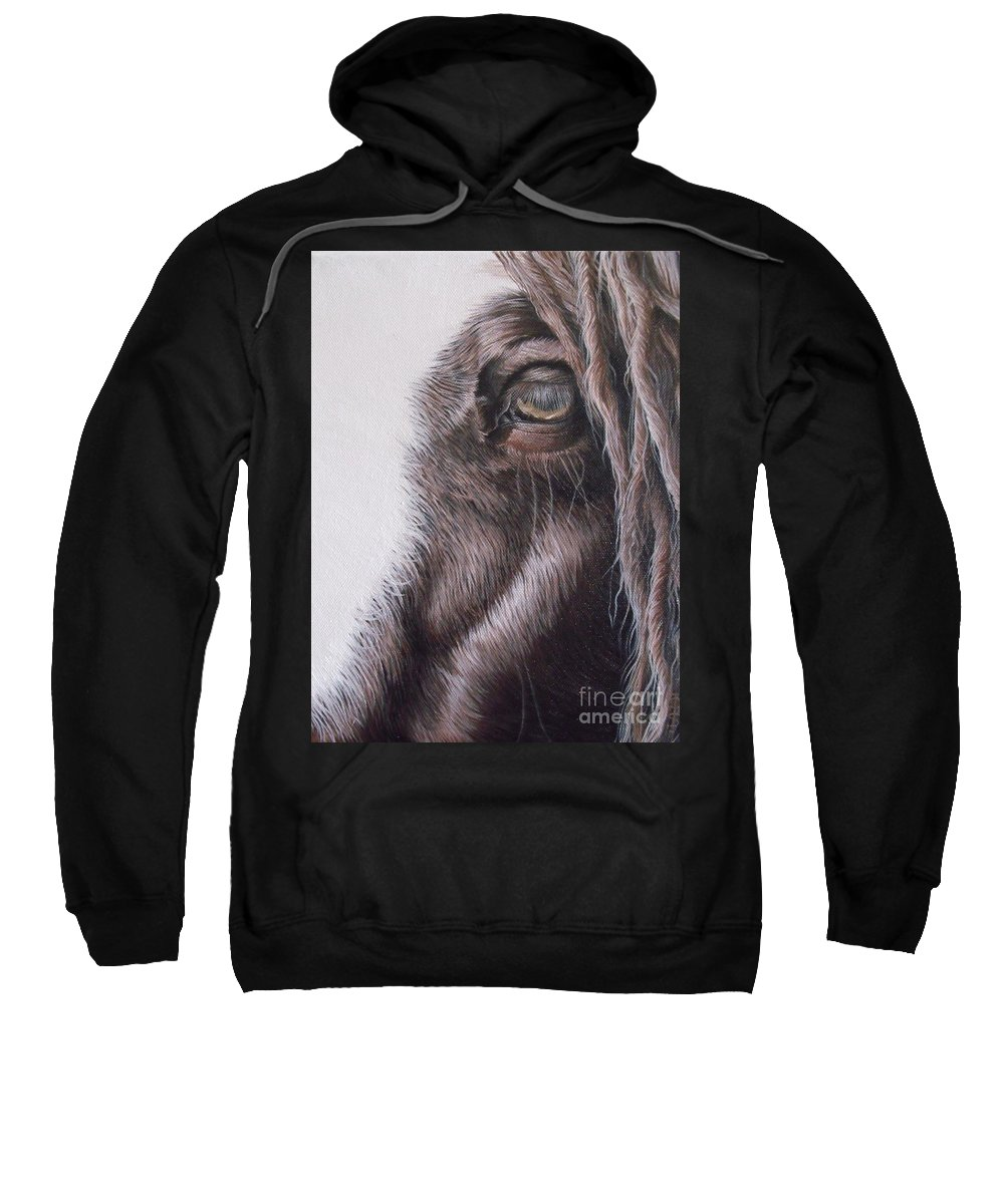 Portrait Sweatshirt featuring the painting Dreamy Listowel Fair by Pauline Sharp