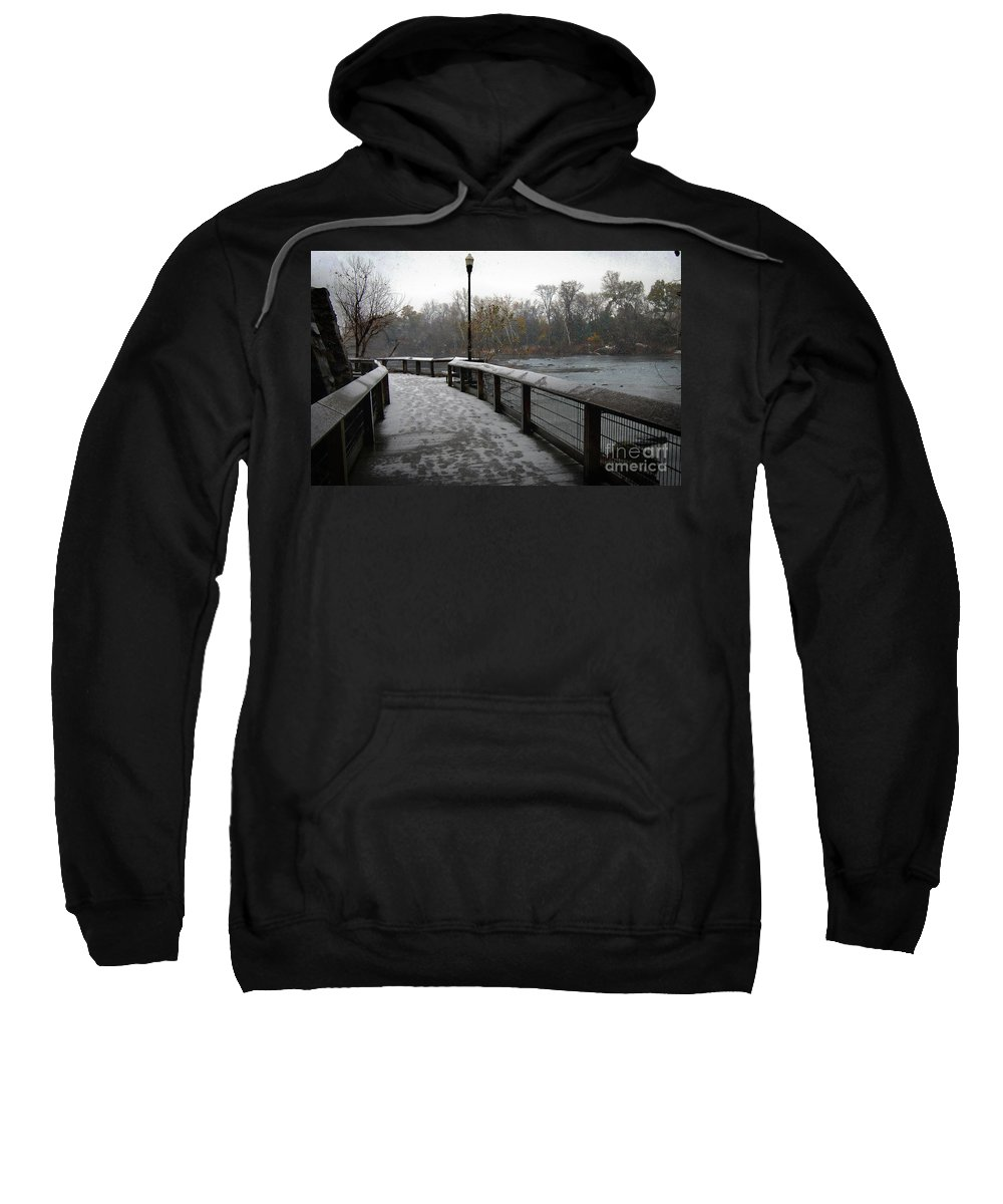 Scenic Tours Sweatshirt featuring the photograph Dreamy Winter Walk by Skip Willits