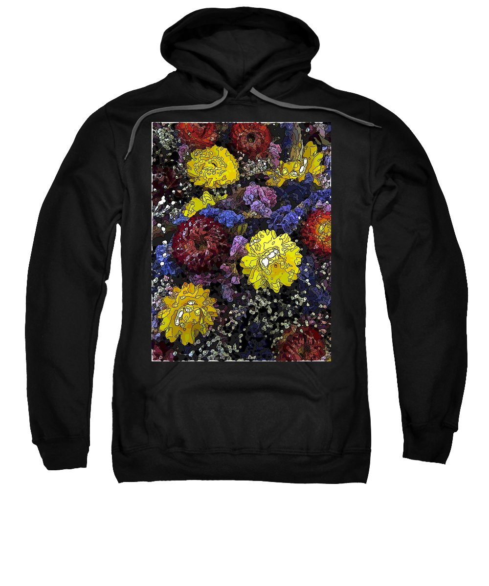 Abstract Sweatshirt featuring the digital art Dried Delight 3 by Tim Allen