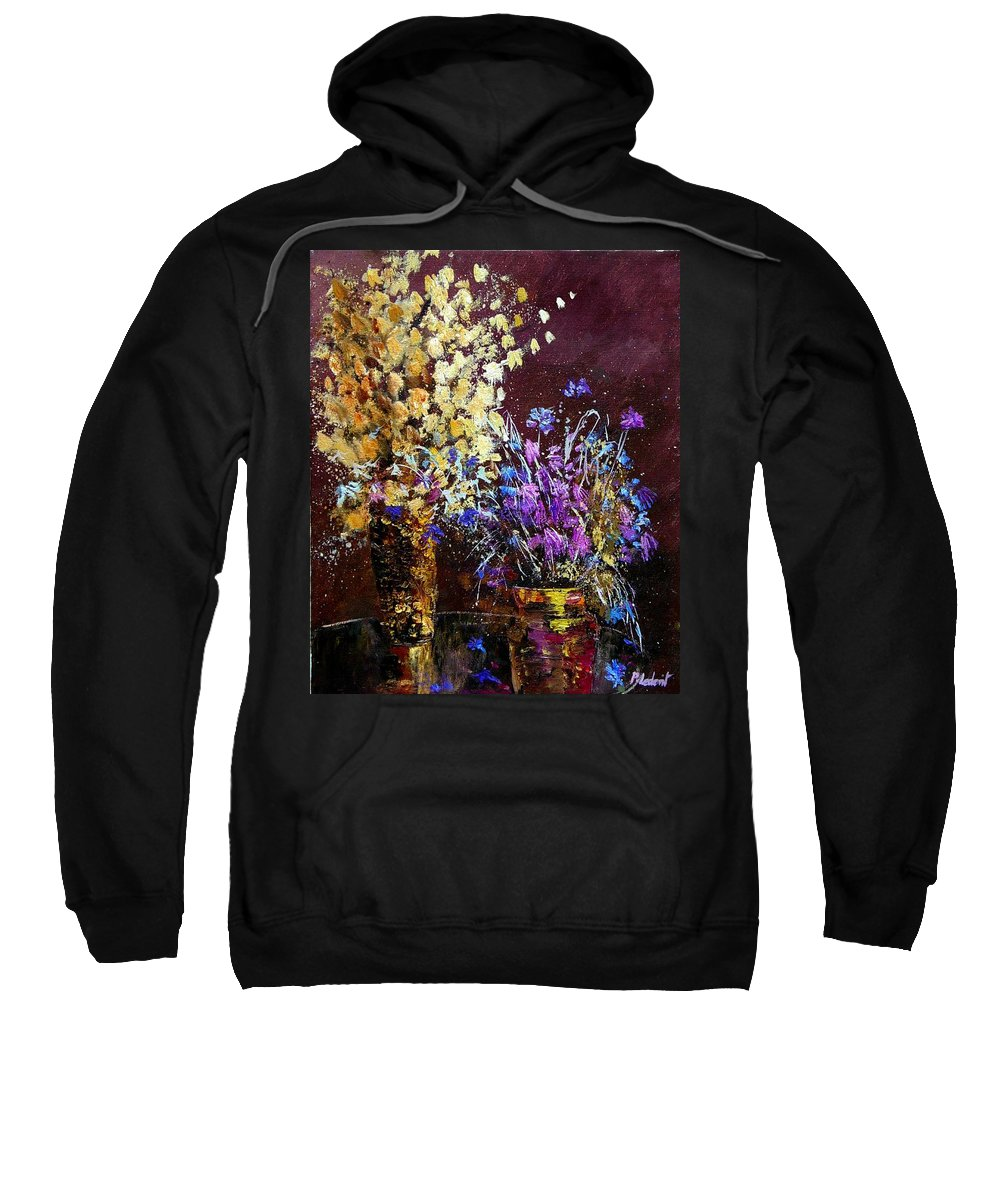 Flowers Sweatshirt featuring the painting Dried Flowers by Pol Ledent