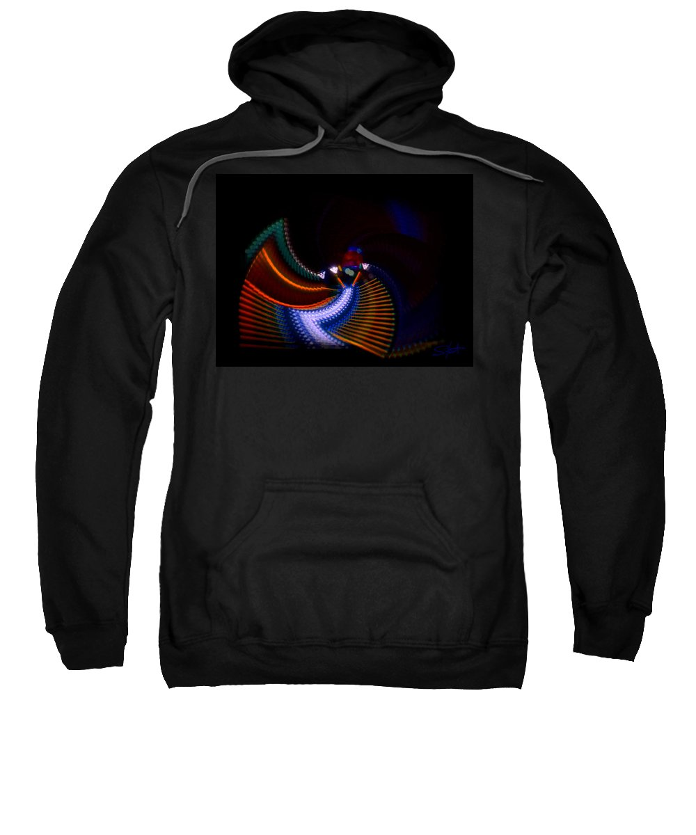 Chaos Sweatshirt featuring the photograph Drummer Dance by Charles Stuart
