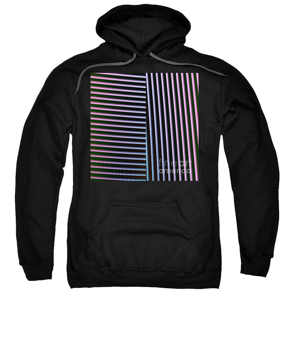 Digital Art Sweatshirt featuring the digital art Duality II by Dragica Micki Fortuna