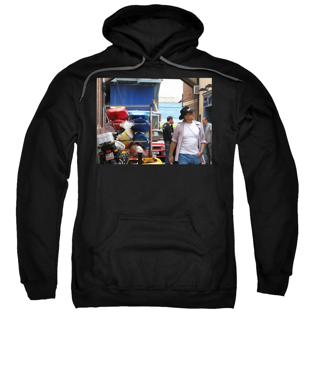 Alley Sweatshirt featuring the photograph Dublin Alley by Kelly Mezzapelle