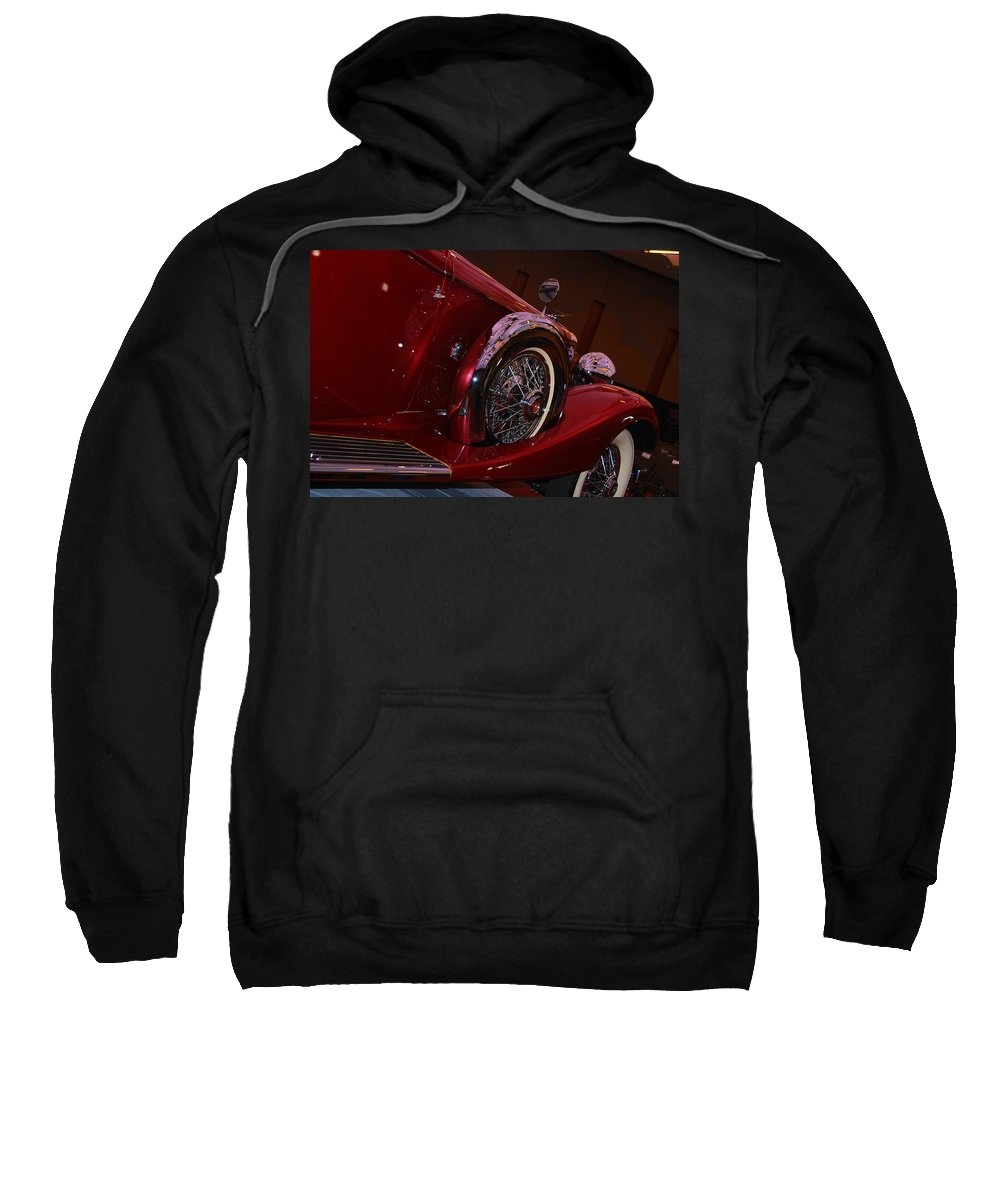 Cars Sweatshirt featuring the photograph Duesenberg Side View by Susanne Van Hulst
