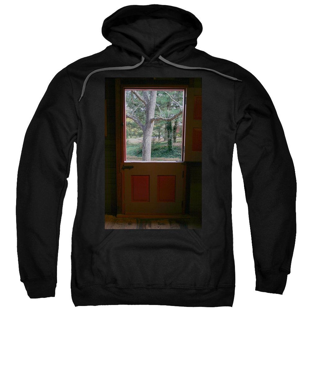 Dutch Door Sweatshirt featuring the painting Dutch Door by Rebecca Smith