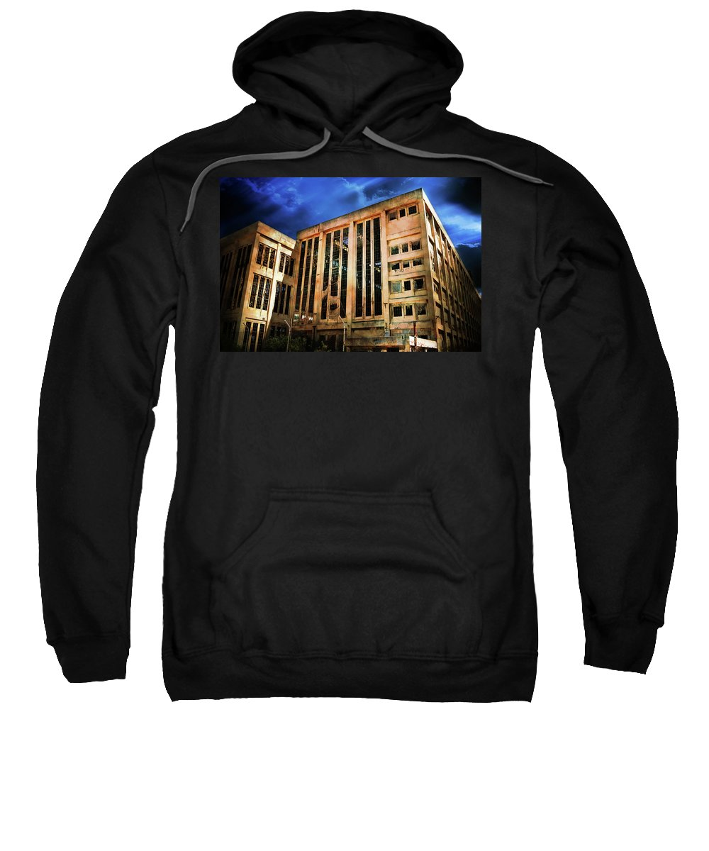 Building Sweatshirt featuring the photograph Dying Building by Phill Petrovic