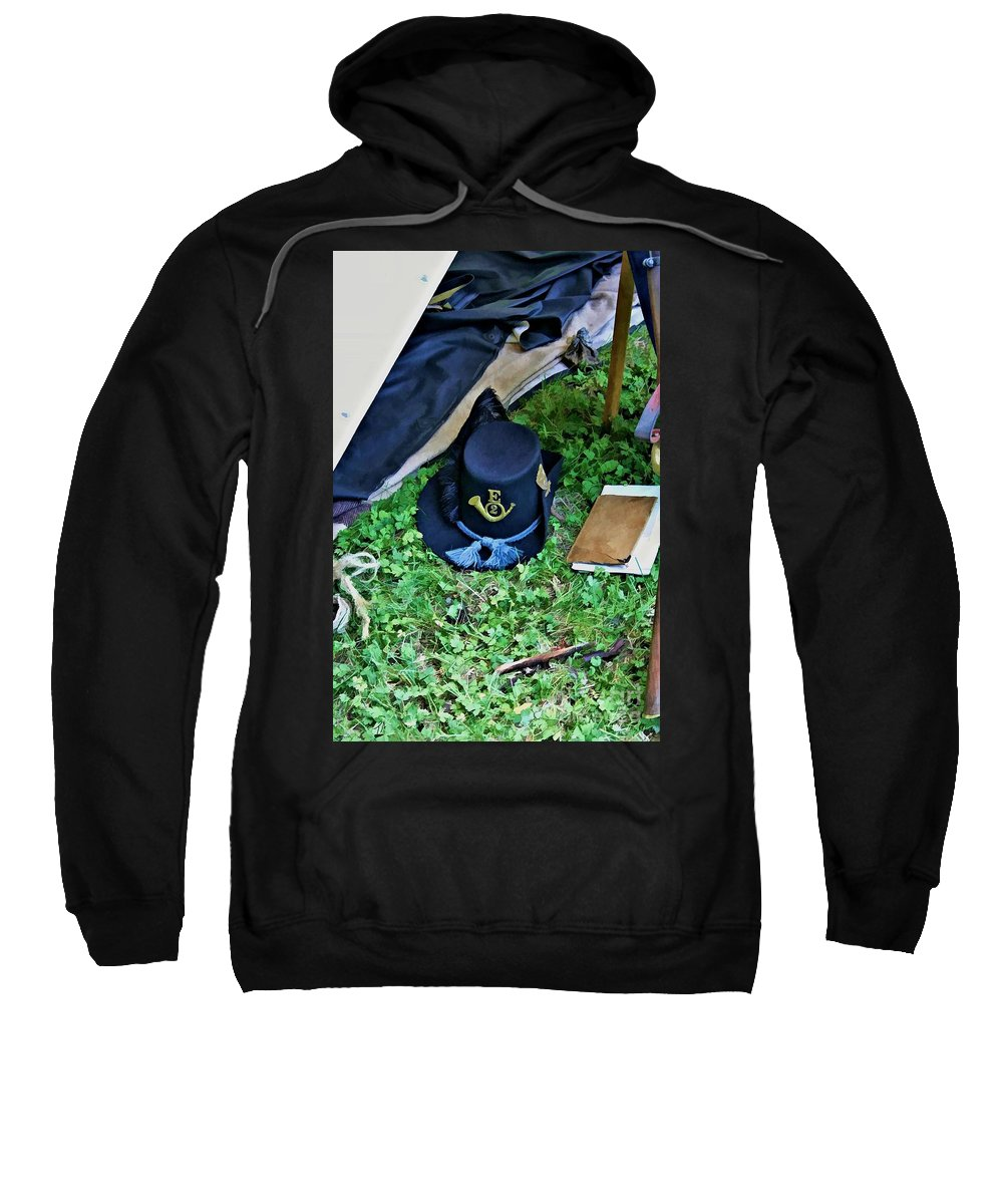 2nd Wisconsin Sweatshirt featuring the digital art E Company Black Hat by Tommy Anderson
