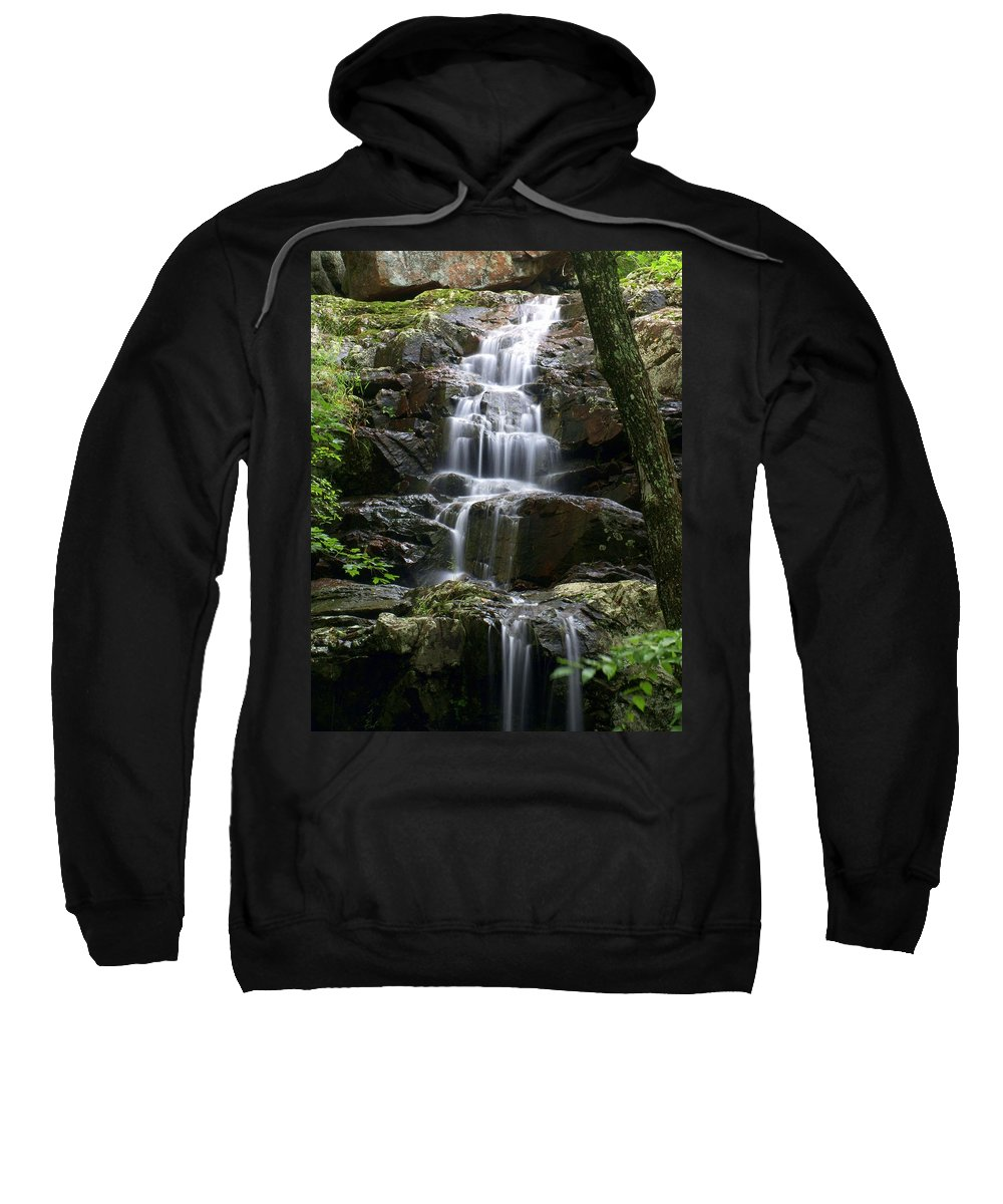 Waterfalls Sweatshirt featuring the photograph E Falls by Marty Koch