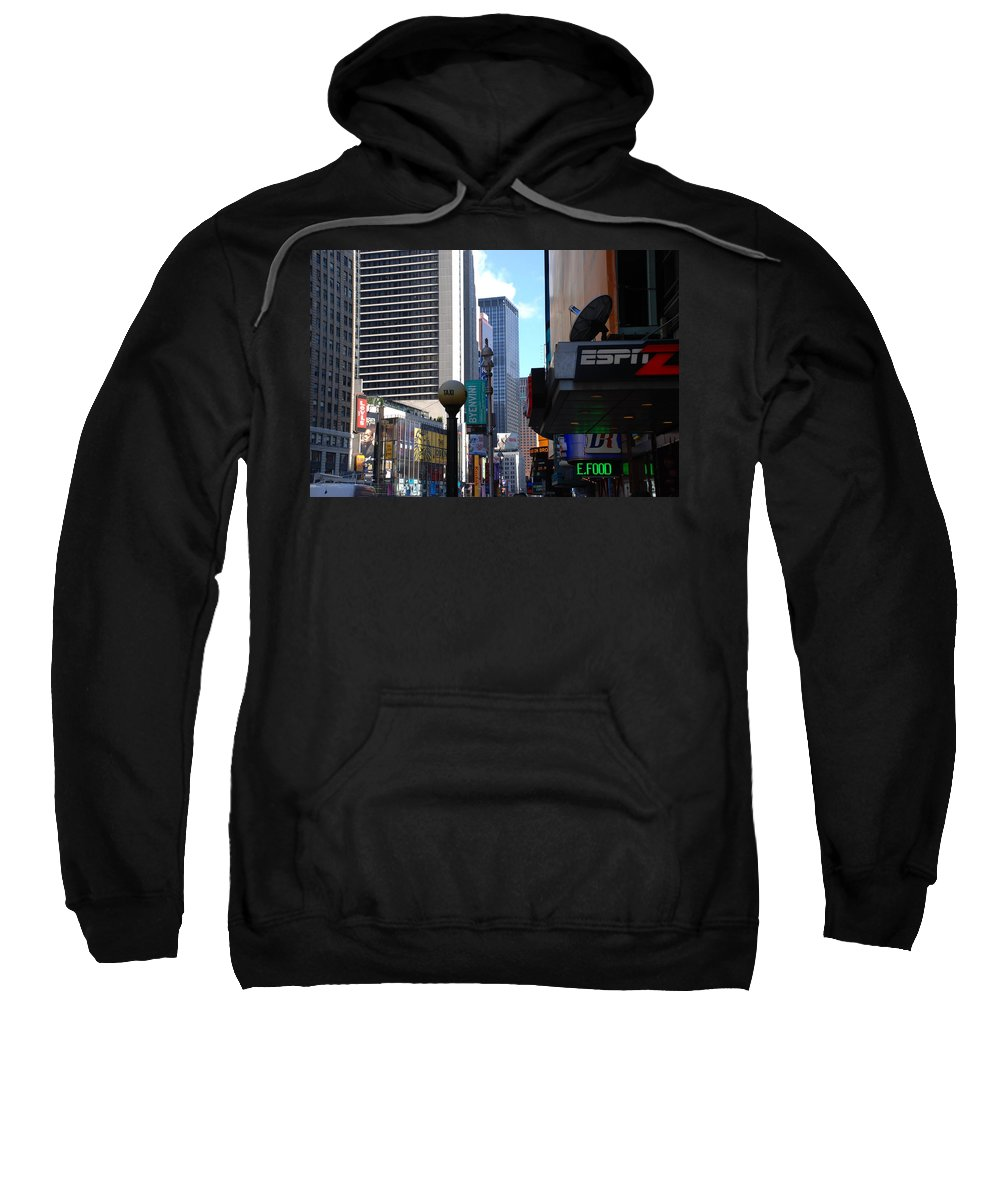 Food Sweatshirt featuring the photograph E Food Taxi New York City by Rob Hans