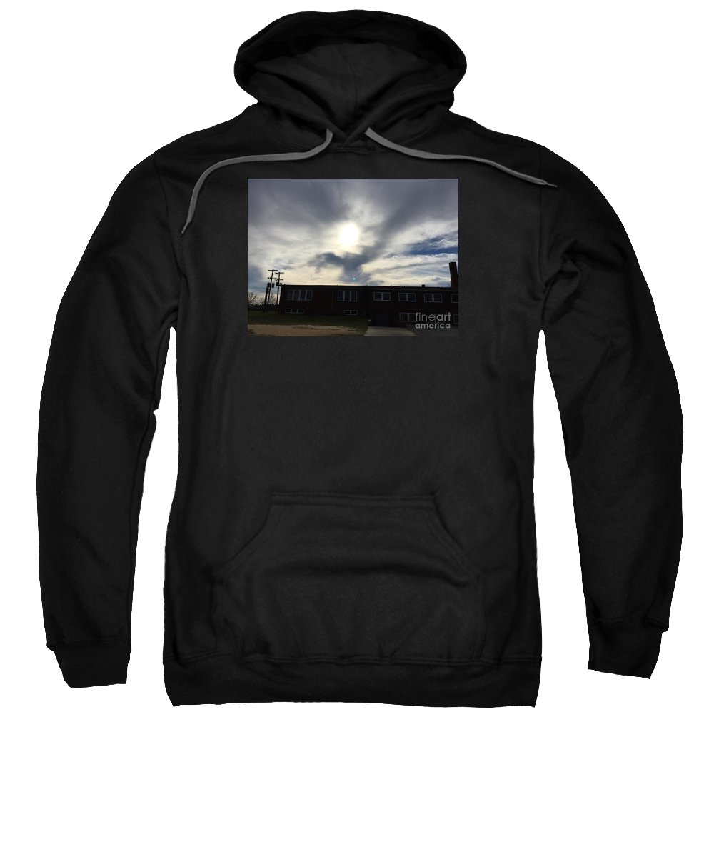 Eagle Sweatshirt featuring the photograph Eagle Cloud In The Carolina Sky by Matthew Seufer
