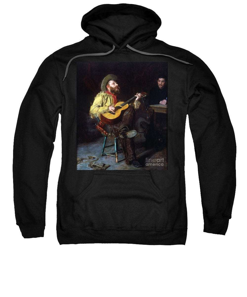 1892 Sweatshirt featuring the photograph Eakins: Home Ranch, 1892 by Granger
