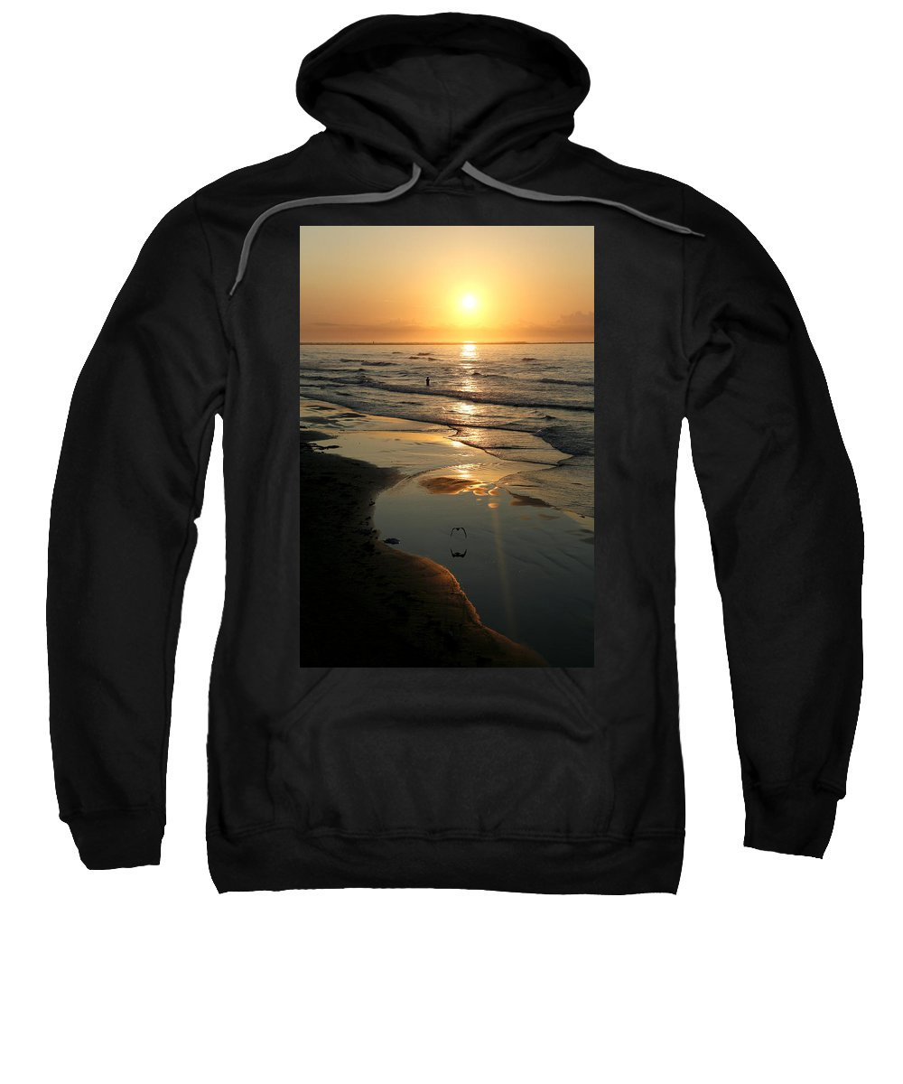Water Sweatshirt featuring the photograph Early Morning Fishing by Marilyn Hunt