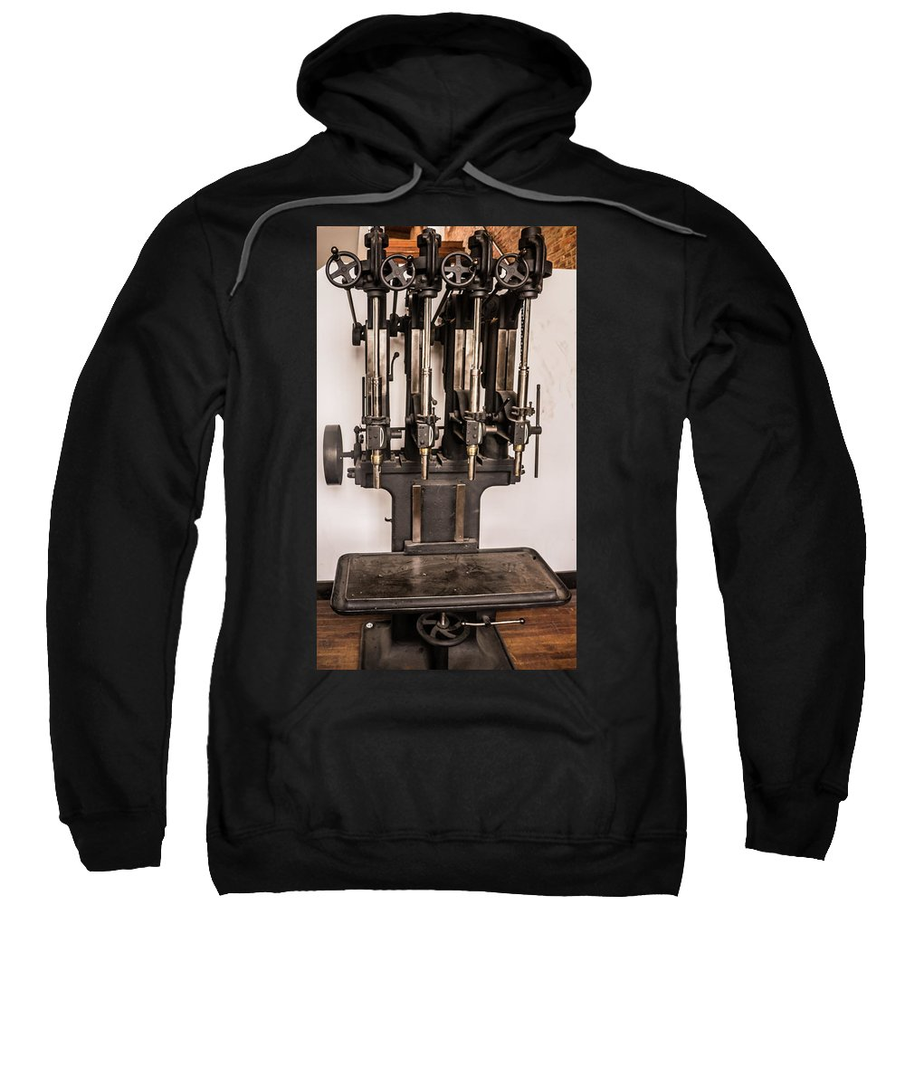 Press Sweatshirt featuring the photograph Early Press From Car Manufacturing 2 by Douglas Barnett
