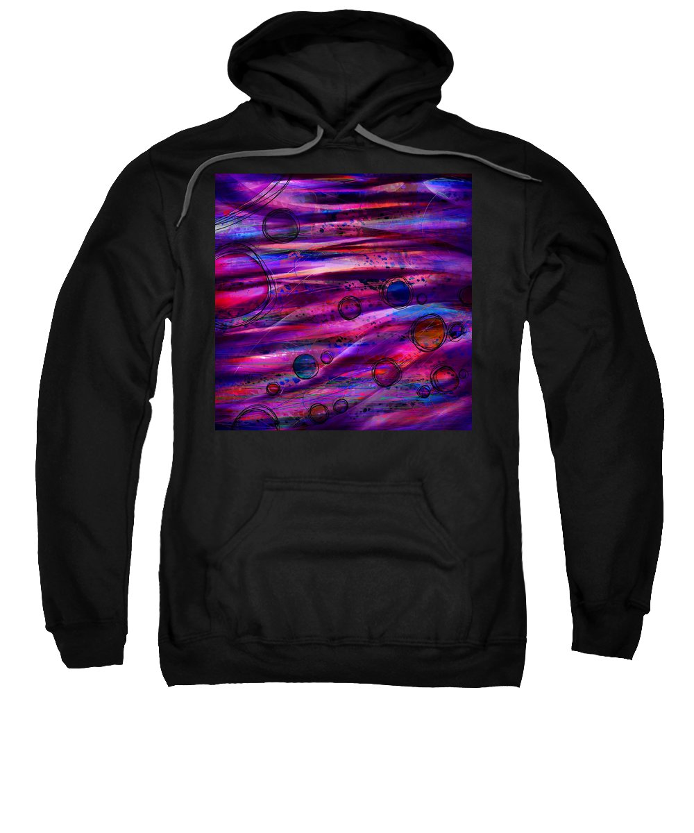 Abstract Sweatshirt featuring the digital art Early Risers by Rachel Christine Nowicki