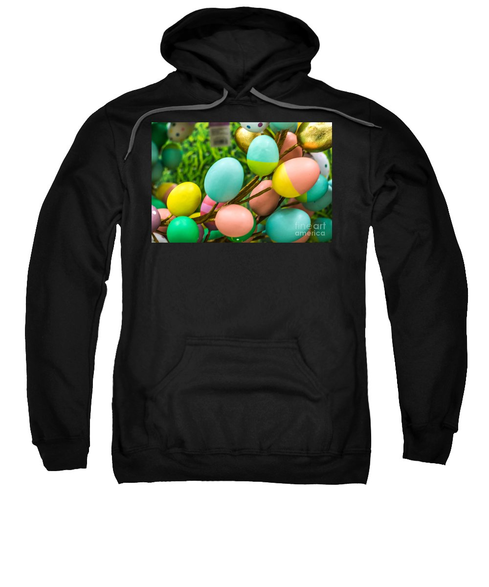 Easter Sweatshirt featuring the photograph Easter Eggs by Pamela Williams